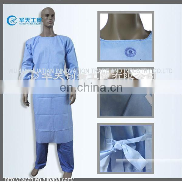 white cotton surgical hospital gown..surgical gown gloves.pp disposable surgical gown
