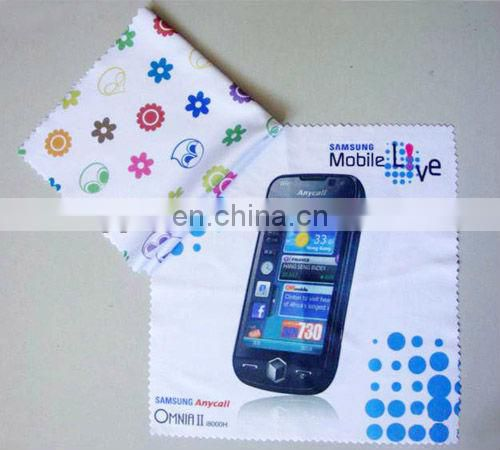 custom print microfiber glasses cleaning cloth