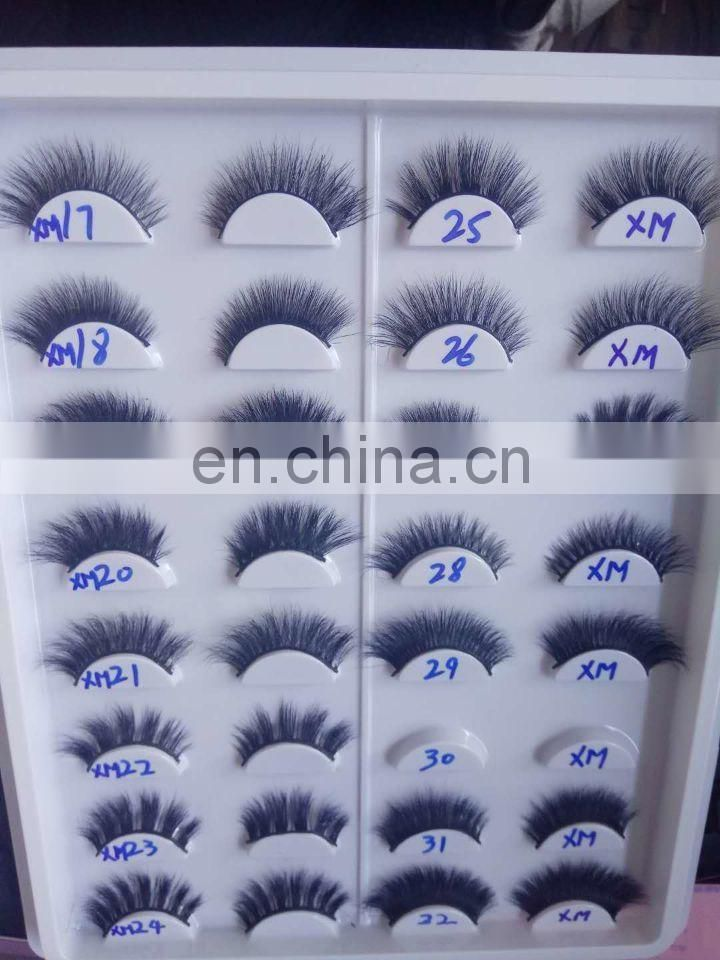 A11 100% mink eyelashes clear band false eyelashes
