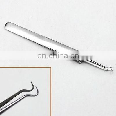 Bend Curved Facial Extractor Blackhead Acne Blemish Remover Tweezers Needle Tool