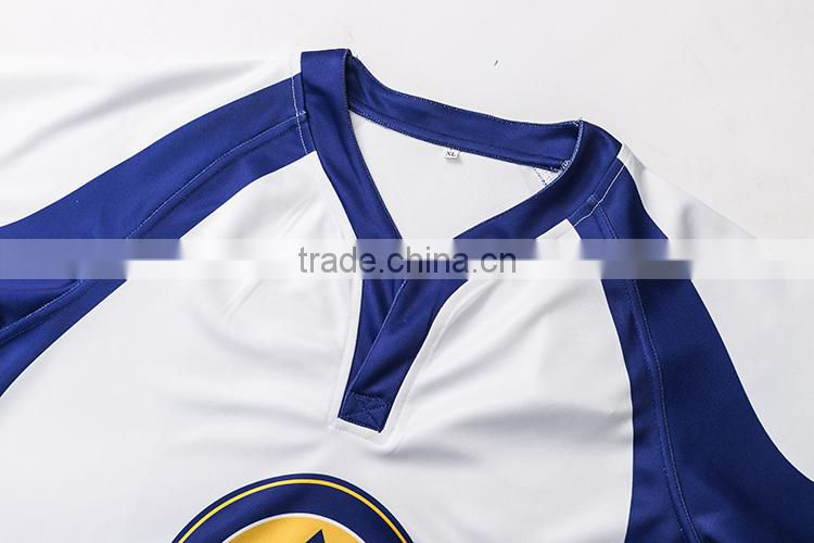 high quality customized cheapest Dye sublimated rugby jersey