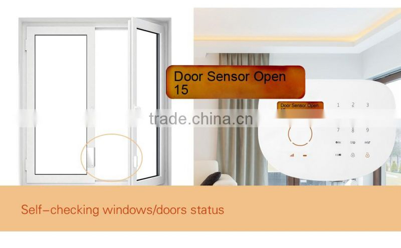 Wireless alarm system GS-S2G can work with wired sensors, APP control control smart sockets gsm alarm system