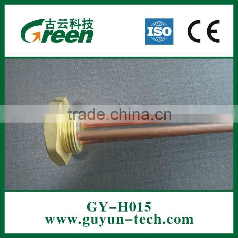 Straight and long Electric heating tube 1 1/4'' brass flange with/without Mg anode hole (M5/M6/M8)
