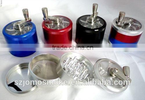 Wholesale Aluminum herb grinder,5 parts grinder,spice grinder for grinder electric herb grinder