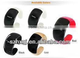 Fashion Ladies Wristband Mobile Phone Incoming Vibrate Silicone Bluetooth Bracelet
