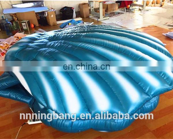 large inflatable shell/inflatable clam with LED light for wedding