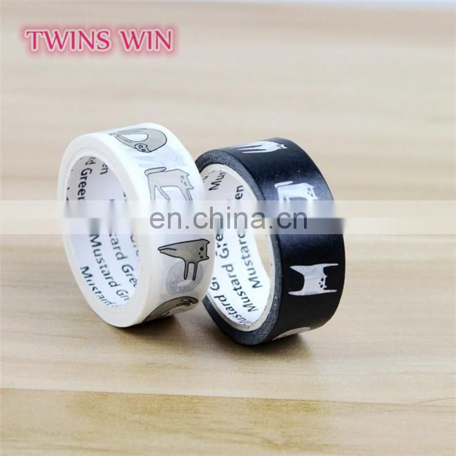 Quality Guaranteed wholesale custom printed heat-resisting decorate black pvc masking tape for office
