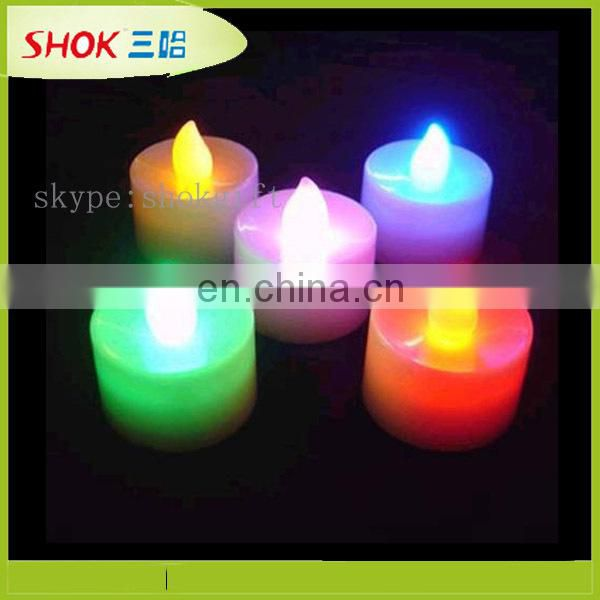Wedding gift led candle lights,LED moving flame candle,plastic LED candle