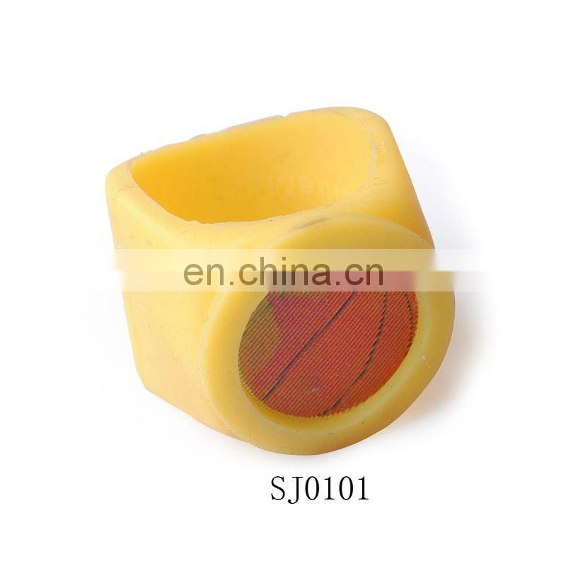 Hot Sale Colorful Bird Girls PVC Soft Balsam Ring Jewelry