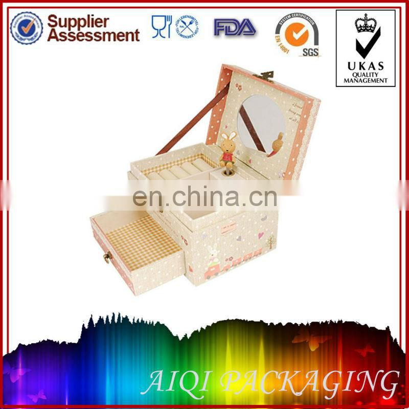 Elegant Make Up Kit Paper Cosmetic Organizer Boxes and Cases,special paper jewelry box