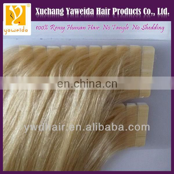 Factory whoelsale high quality tape human remy hair extensions buy from chia