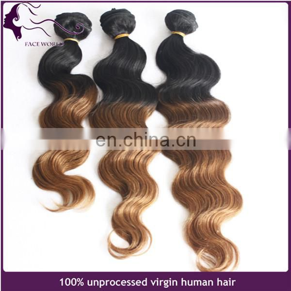 body wave human hair bundles with closure top quality ombre hair extension