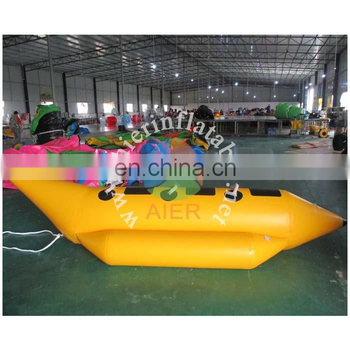 Inflatable Banana Boat/inflatable water toy/Inflatable game boat for yacht