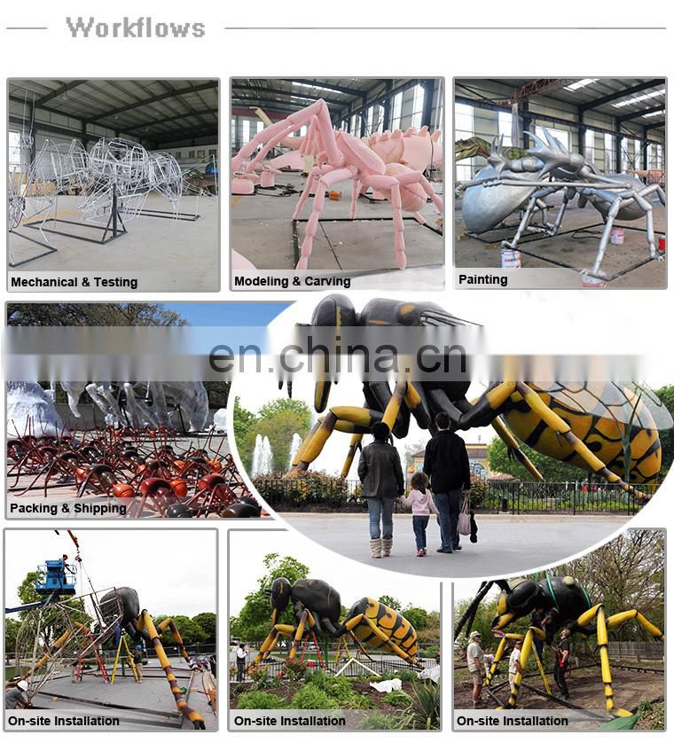 Amusement park equipment mechanical huge animatronic ant
