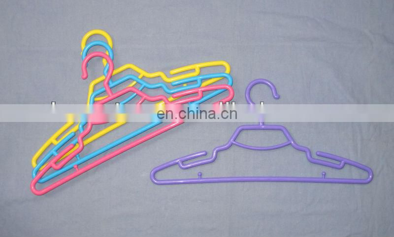 Colorful plastic hanger for drying clothes