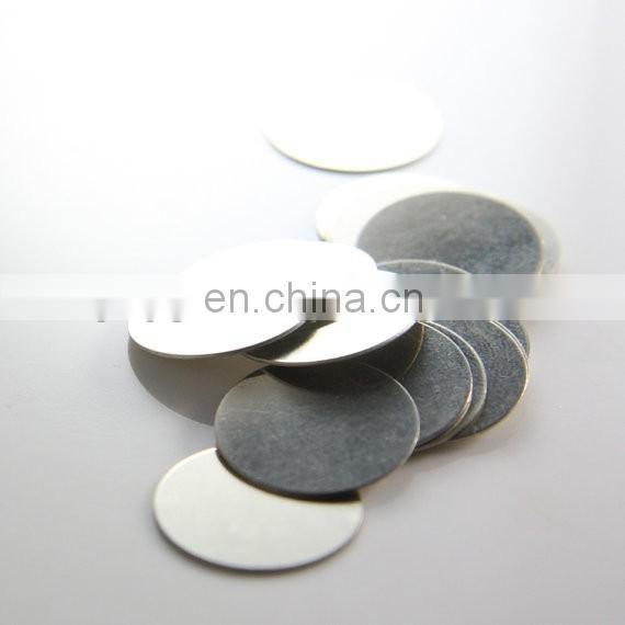 Blank metal coin with silver plating