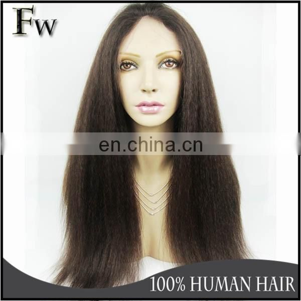 Factory in Qingdao large stock 8 inch yaki full lace wig