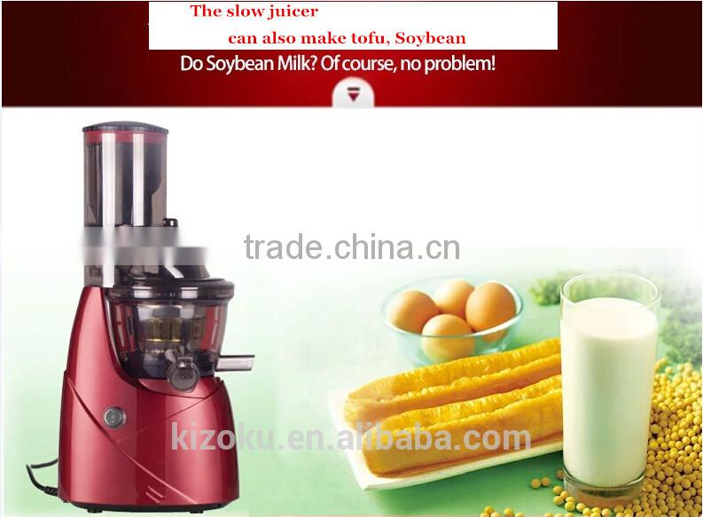 NEW Big/Wide Mouth AC induction motor BPA FREE slow juicer