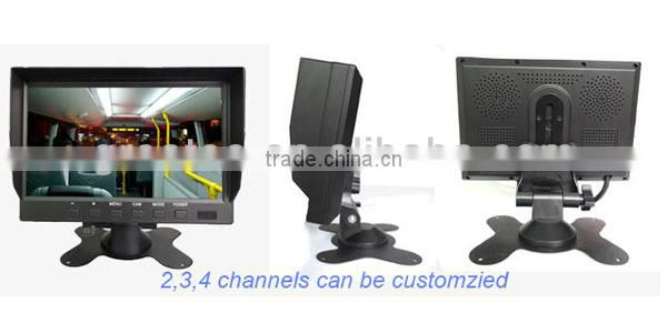 factory best 7inch Digital LCD car Rear View Monitor Support 4-CH inputs