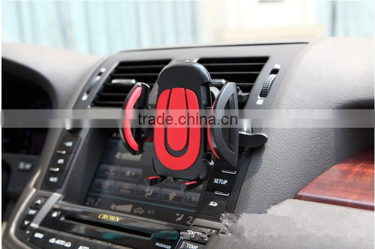Wholesale cheap ABS red air vent phone holder