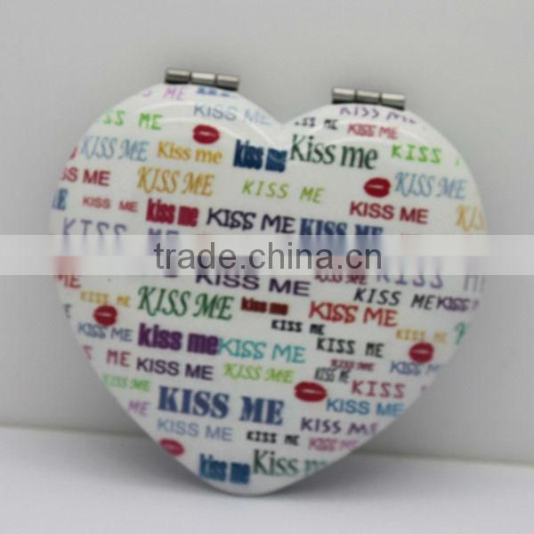 Painting Colorful Mini Make Up Mirror/heart shaped mirror