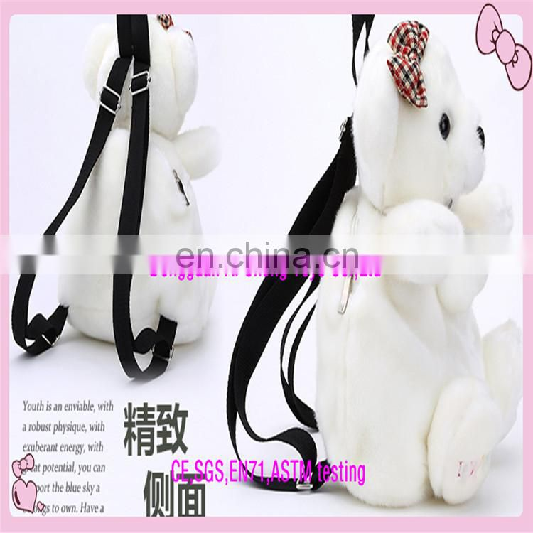 Custom good quality cue panda plush toy backpack for kids