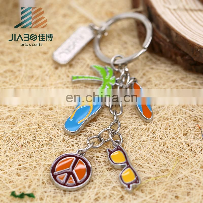 Fashion various custom own logo soft enamel blank metal charms for men