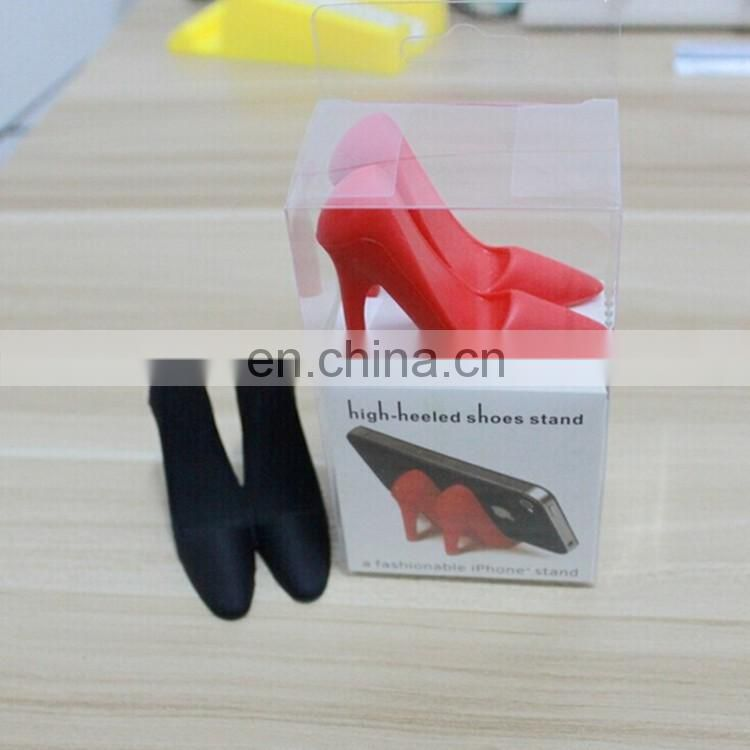 3D high heeled shoes cell phone stand silicone phone stand security display stand for cell phone