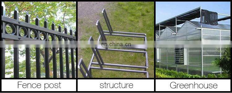 Weight of gi square pipe 12x12 structural thin wall square galvanized steel tube