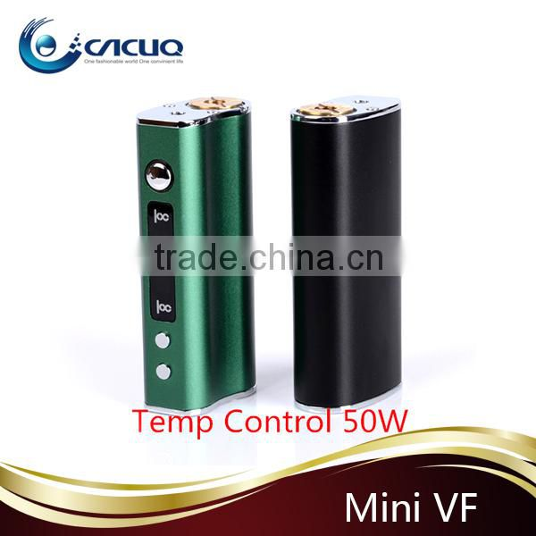 CACUQ newest temp control box mod Mini VF 50 watts mini vf box mod e cigarette battery