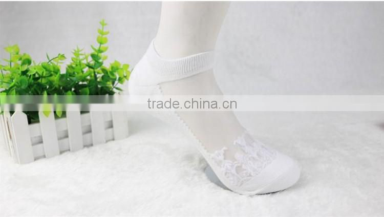Amazing free size Womens Short Sock Women Lady Girl Summer Thin Transparent Crystal Silk Socks