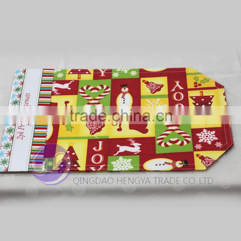 Custom Printed Christmas Table Placemats