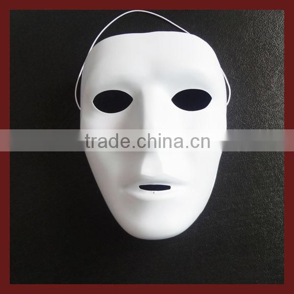 Whosale Cool Halloween Costume pvc mask/ white pvc mask /color mask