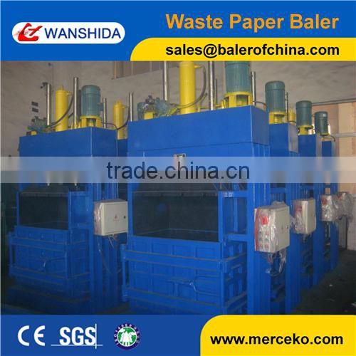 WANAHIDA Vertical Hydraulic cardboard baling press machine