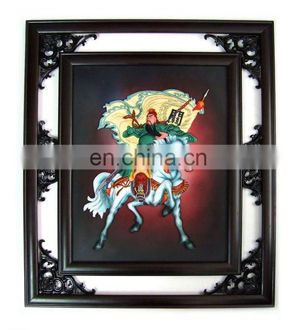 resin indian buffalo photo frame in old style