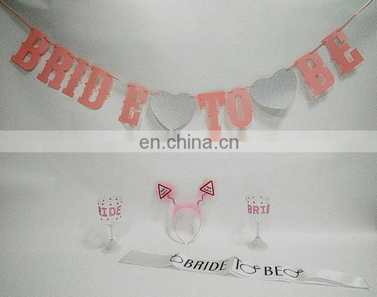 Bachelorette Party Banners Decorations Bride To Be Hen Patry Sets