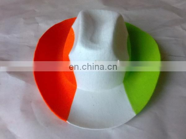 wide Germany flat brim hat/Italy flag hat/flag fedora hat