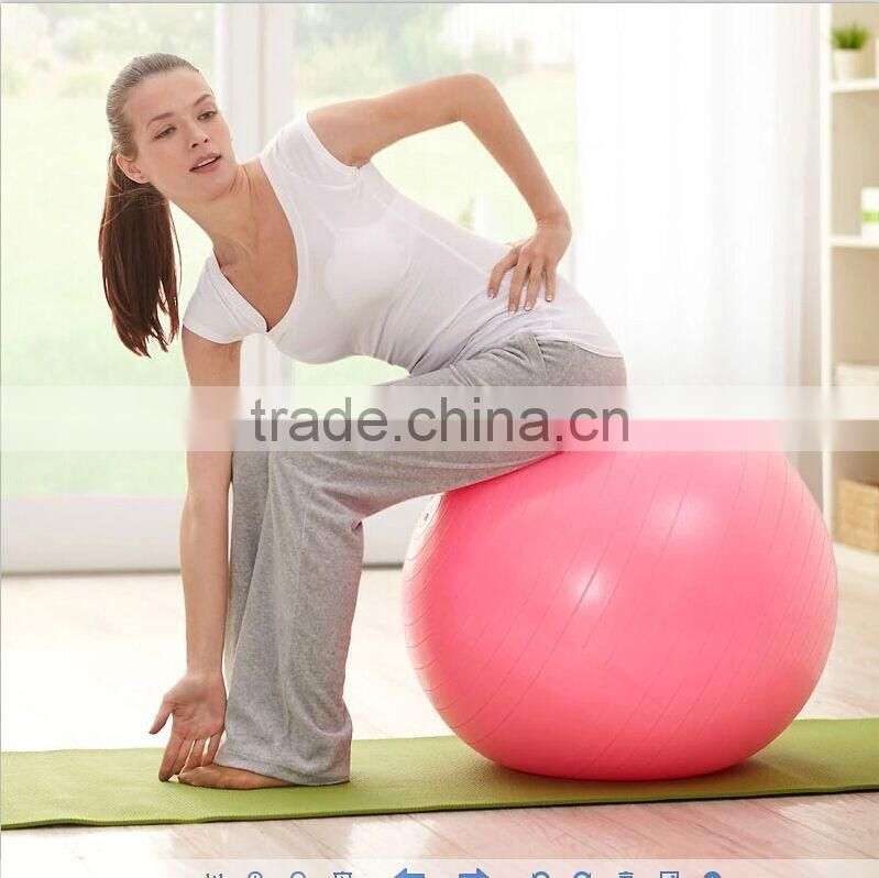 gym pilates yoga ball with pump exercise fitness ball with logo printed