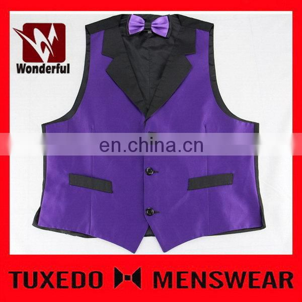 Bottom price Cheapest fluorescence color zipper-up man vest