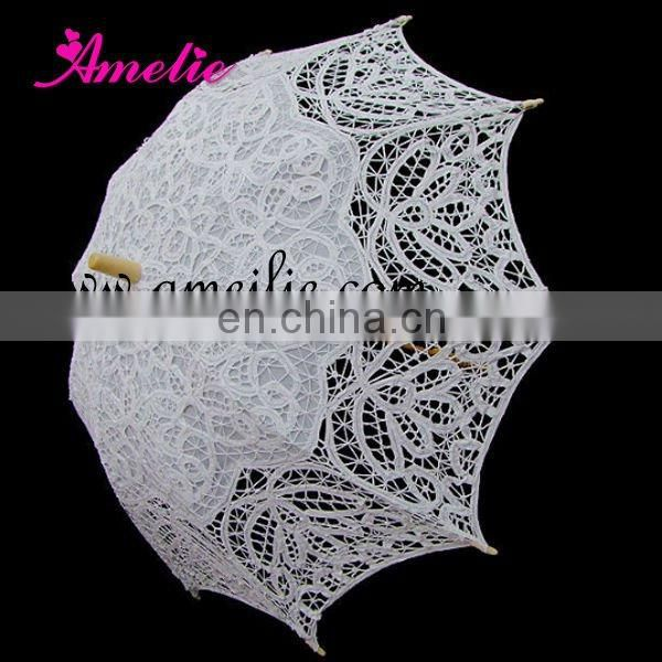 Belgian lace parasols and lace hand fans