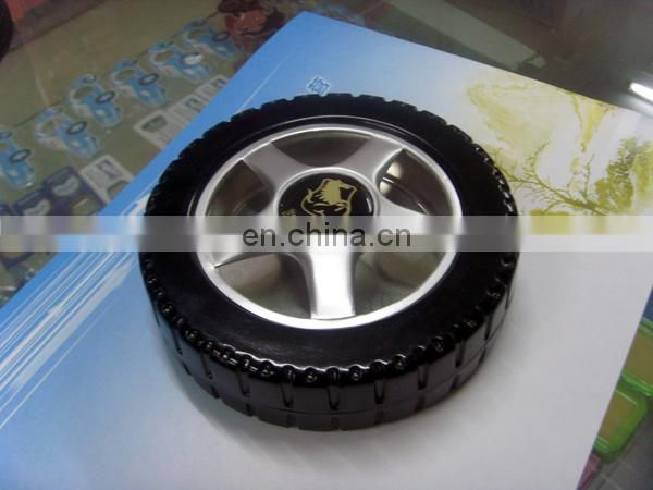 tire shape pocket plastic ashtray,car ashtray