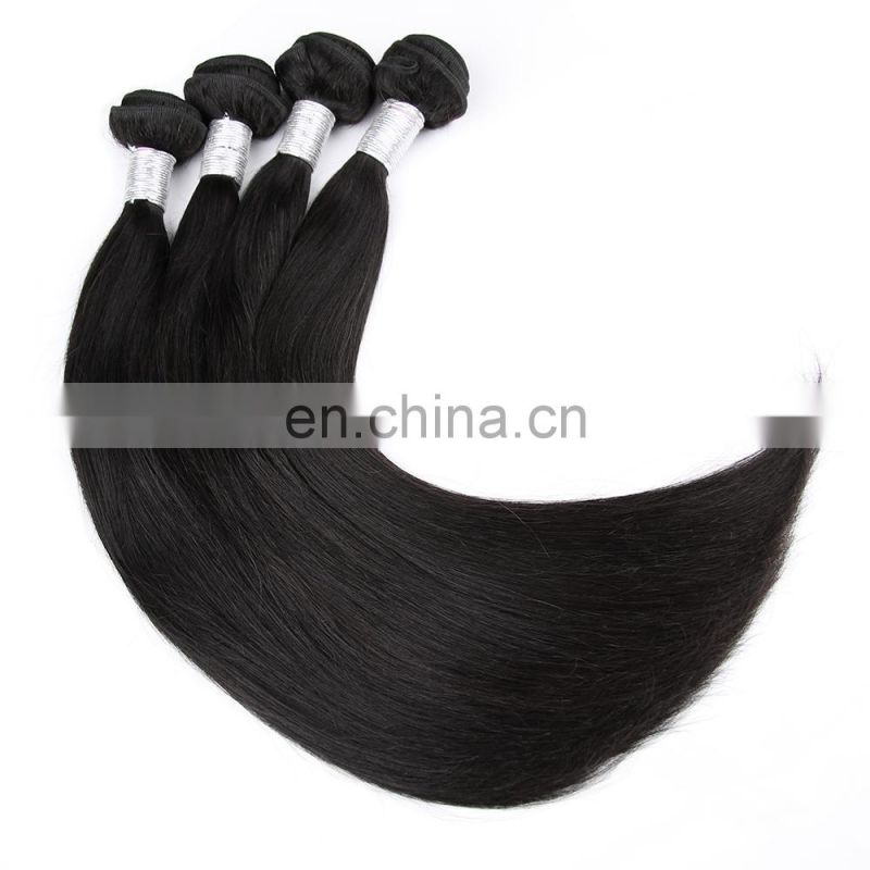 Natural Color Straight Hair 100% Virgin Unprocessed Human Hair Buyers Of Usa