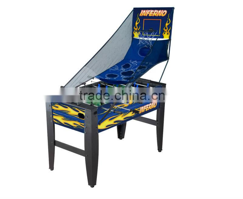 5 in 1 Multi-functional Table Game included soccer,pool table,table tennis,chess and backgammon