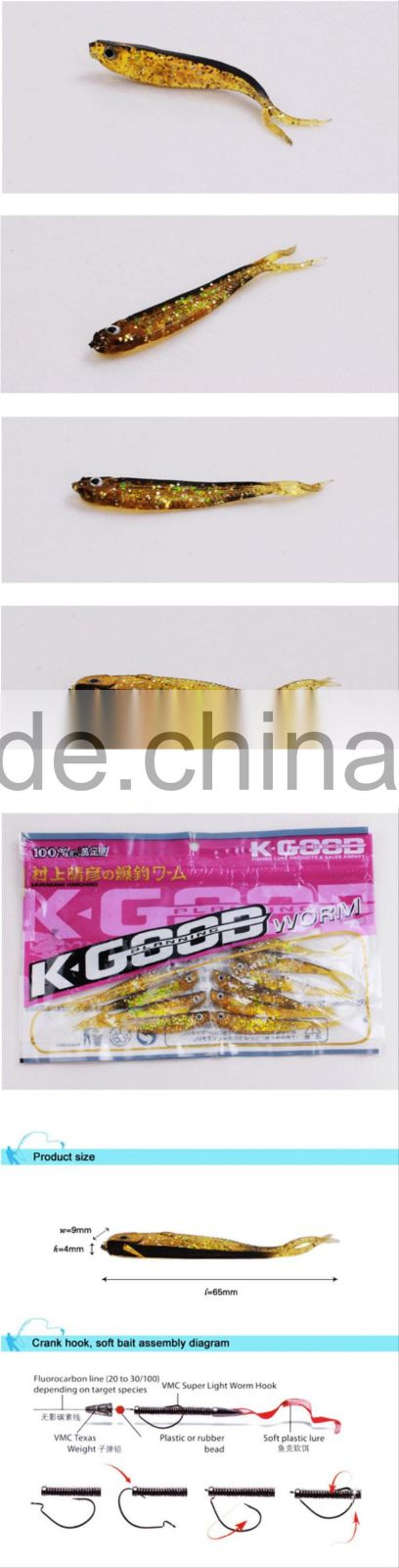 Popular 80mm 2g Soft Little Lures Soft Plastic Fishing Lures
