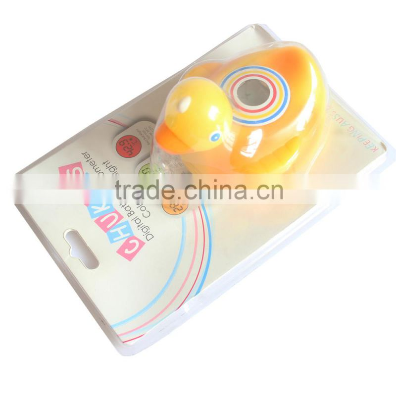 Duck style Backlight LCD Digital baby bath thermometer use for baby with tortoise style