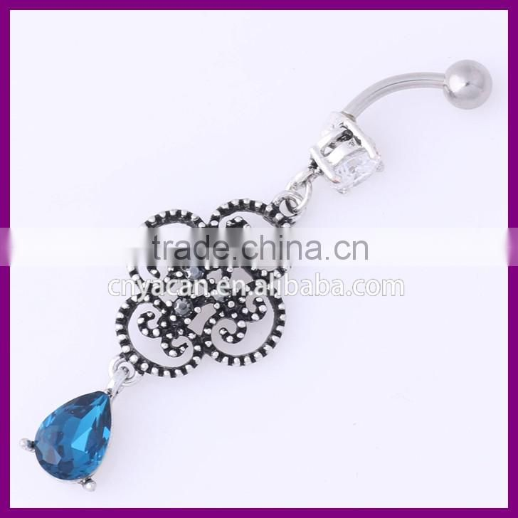 Wholesale Body Jewelry Crystal Curved Barbell Navel Piercing Indian