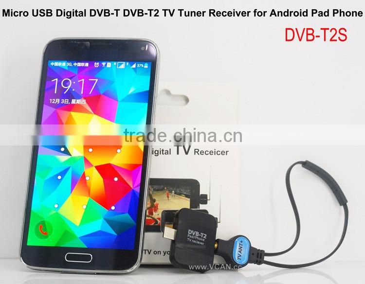 Android Phone and Tablet Digital Terrestrial ATSC TV Tuner Receiver Mini Dongle
