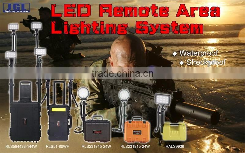 rechargeable led site floodlight Portable china military equipment RLS512722-72w