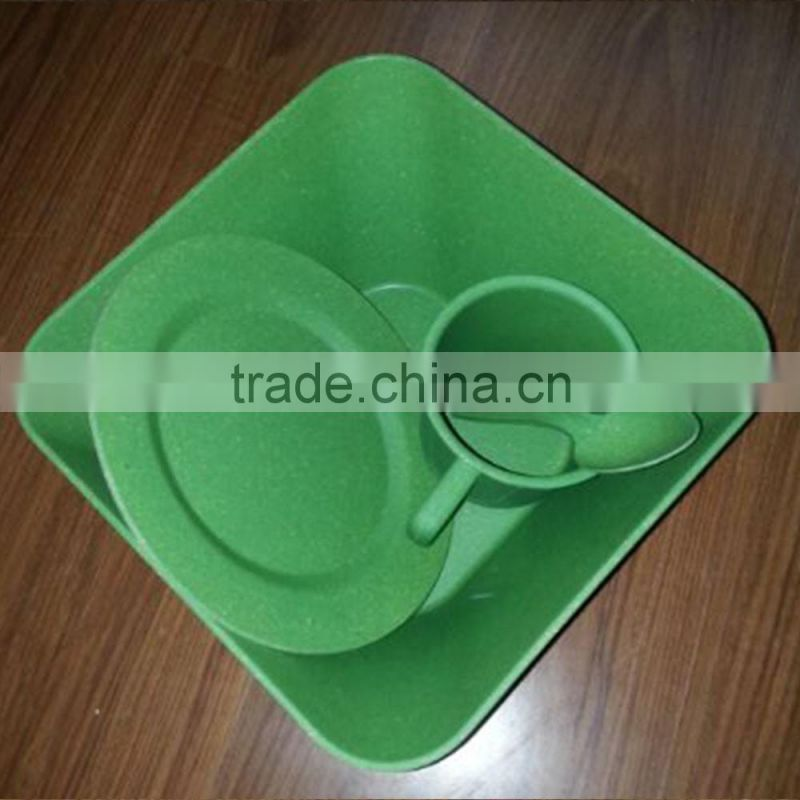 Disposable High quality Bamboo Fiber Dinnerware Sets