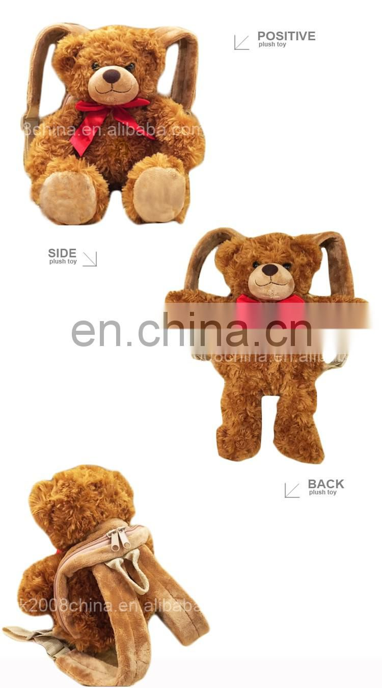 Kids plush animals teddy bear backpack